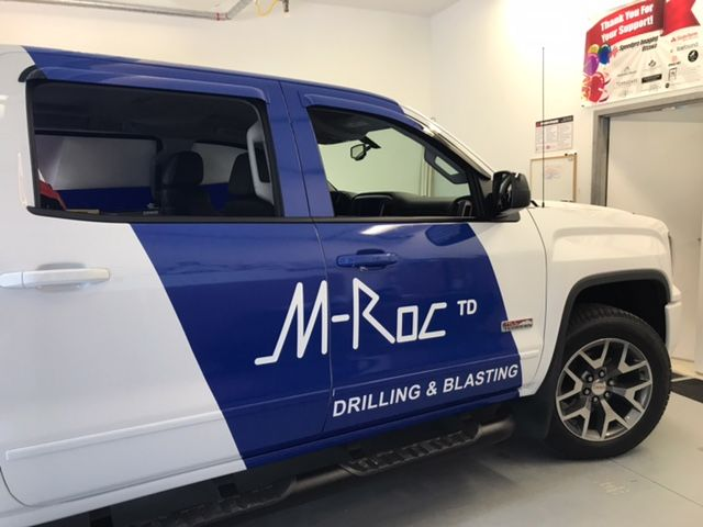 Gorgeous SUV wrap by Speedpro Imaging Ottawa for M-Roc! Eye-catching!