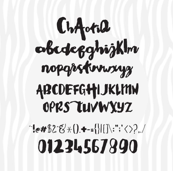 Chaotiq Modern Paint Brush Font | Fonts, Typography and Natural