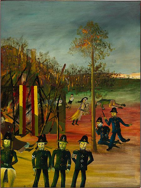 Sidney Nolan 1946-7 Ned Kelly Series - Siege at Glenrowan 1946