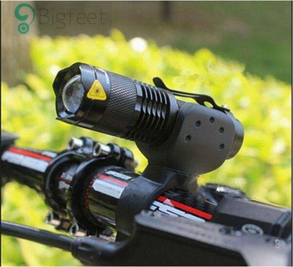 Luz de la bicicleta 7 Vatios 2000 Lúmenes 3 Modo Bicicleta Q5 LED ciclismo Luz Delantera de la Bici luces de la Lámpara de La Antorcha Impermeable linterna ZOOM BL0502