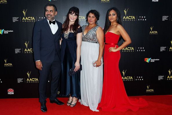 Jessica Mauboy Photos Photos - Wayne Blair, Shari Sebbens, Deborah Mailman and Jessica Mauboy arrive at the 2nd Annual AACTA Awards at The Star on January 30, 2013 in Sydney, Australia. - 2nd Annual AACTA Awards - Arrivals & Awards Room