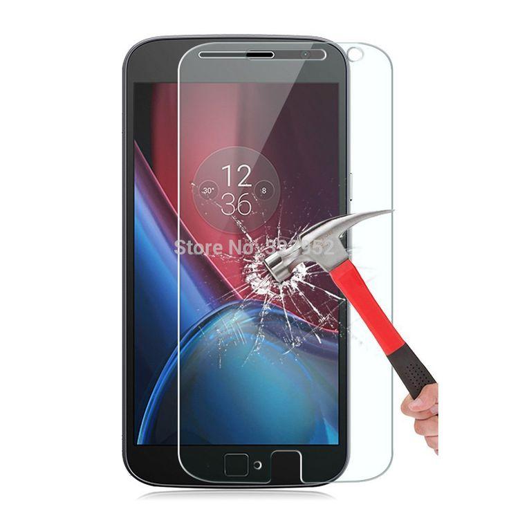 """Лучший продукт из Китая - купить """"для Motorola мото Г4 Г4 Г4 плюс играть 9Н взрывозащищенные закаленное стекло экрана протектор бесплатная плафон стеклянный 50шт бесплатная доставка"""" всего за 43.39 долл."""