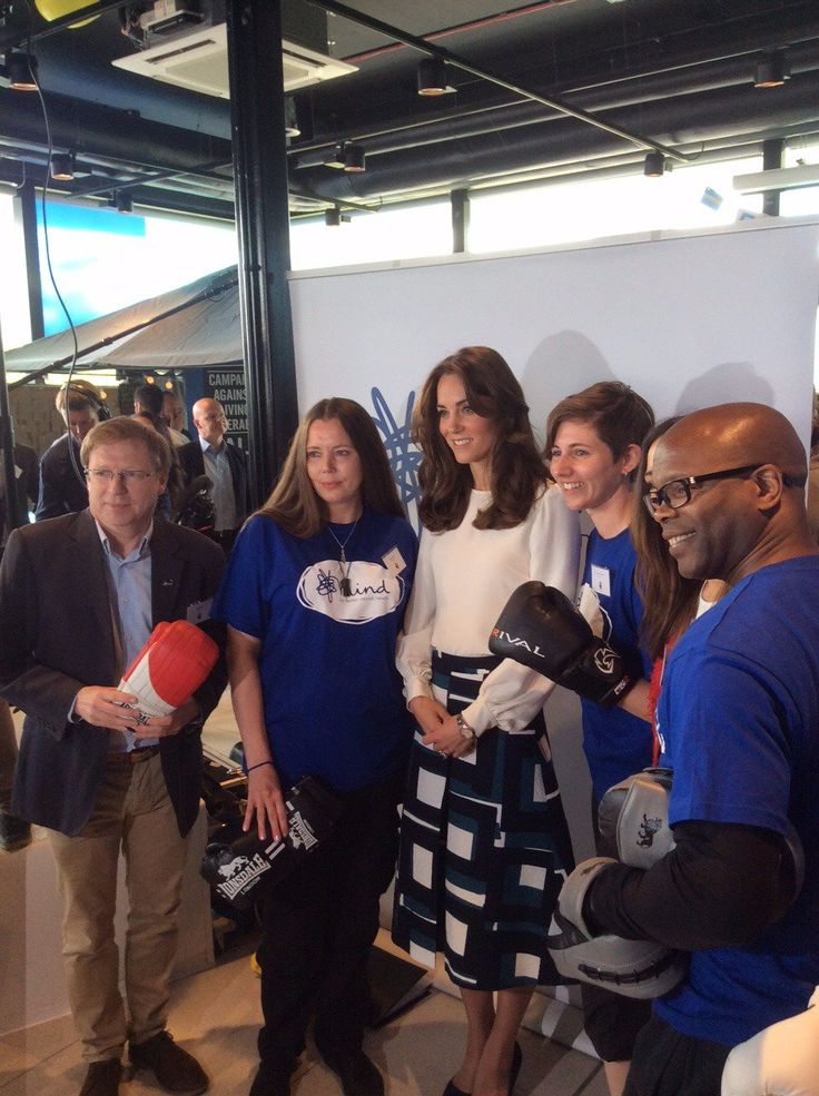 """Heads Together on Twitter: """"The Duchess of Cambridge is trying her hand at boxing at @MindCharity"""
