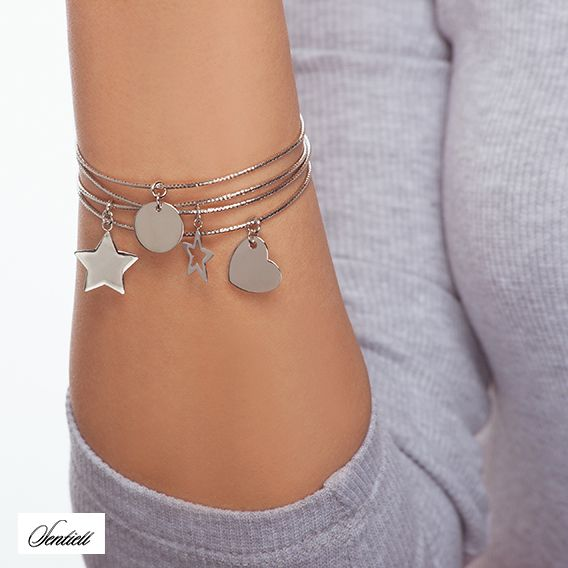 Sterling silver bracelet with pendats from Filigree.pl. Click on the photo to go to our store!