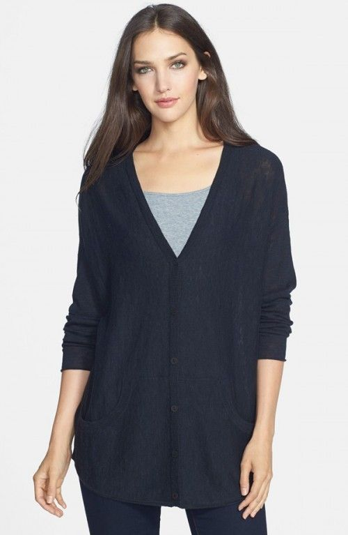 Eileen Fisher Petite Women S Organic Linen Cotton V Neck