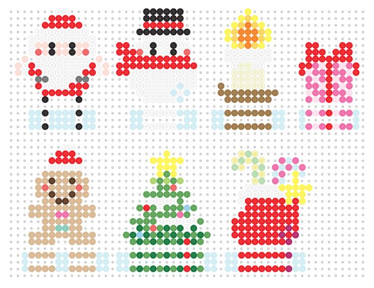 Christmas ornaments perler bead pattern
