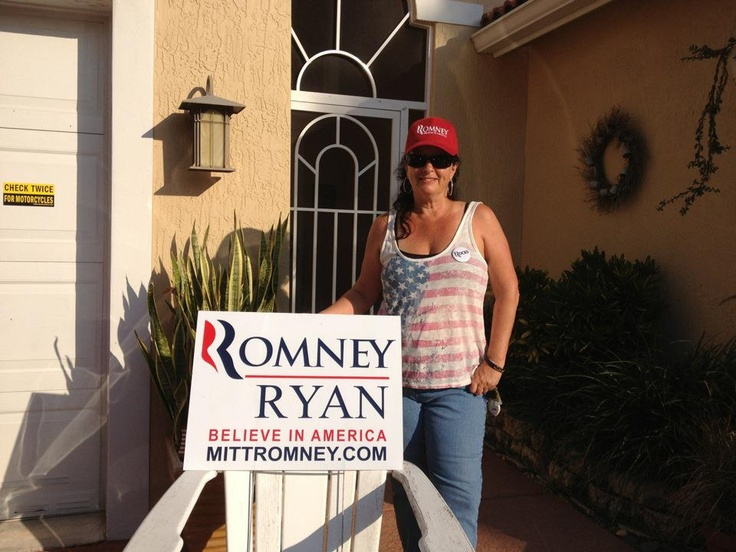 Ellen poses outside in Lake Worth, on her way to an early voting location.