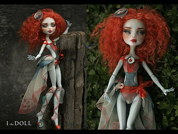 Monster High Repaint Art Doll OOAK – Lagoona | Vanda | Innocence - the secret love potion www.etsy.com/listing/225449459/monster-high-repaint-art-d...