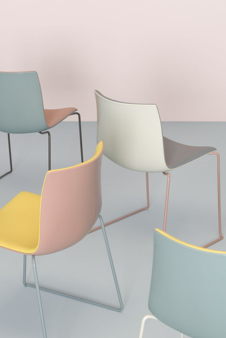 #Arper celebrates the enduring potential of the Catifa family taking the bicolor customizations to a new level of contrast and curation. Originally designed in 2004 for contract and big space use, Catifa 46 retains the same slim profile, but, new for 2016, will be available in an updated range of a soft yet complex palette: rosé, petrol, yellow, ivory and smoke.  #milandesignweek2016