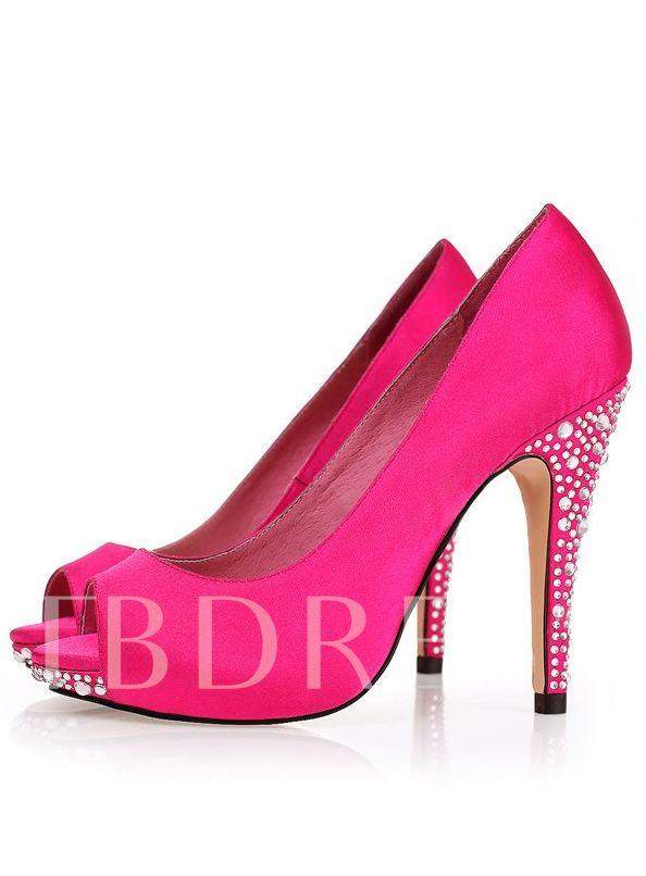 fa8381d9c6d3 Rhinestone Prom Stiletto Heel Women s Shoes