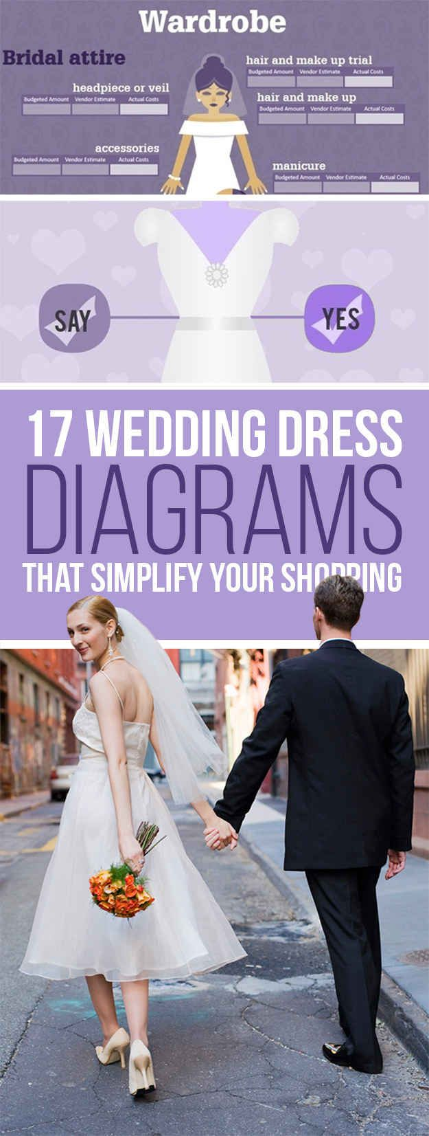 17 Wedding Dress Diagrams That Will Simplify Your Shopping: Ultimate guide to wedding atire!