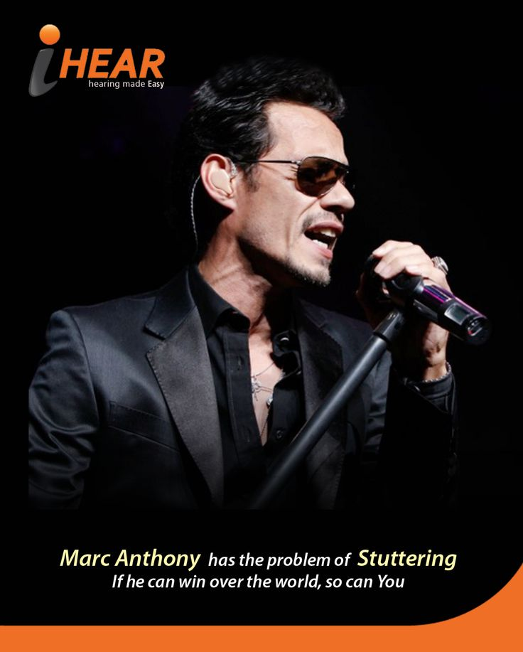 Marc Anthony is a pop singer who won Grammy two-time and Latin Grammy for three-time. His voice is more popular than his speech problem. iHear
