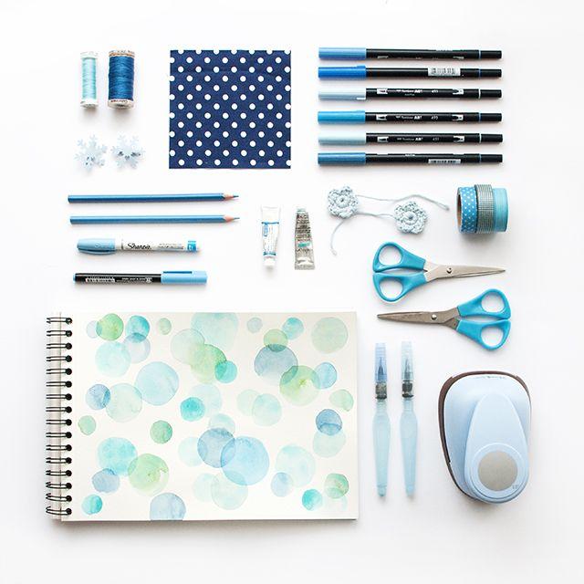 Moodboard enero - inspiración en azul