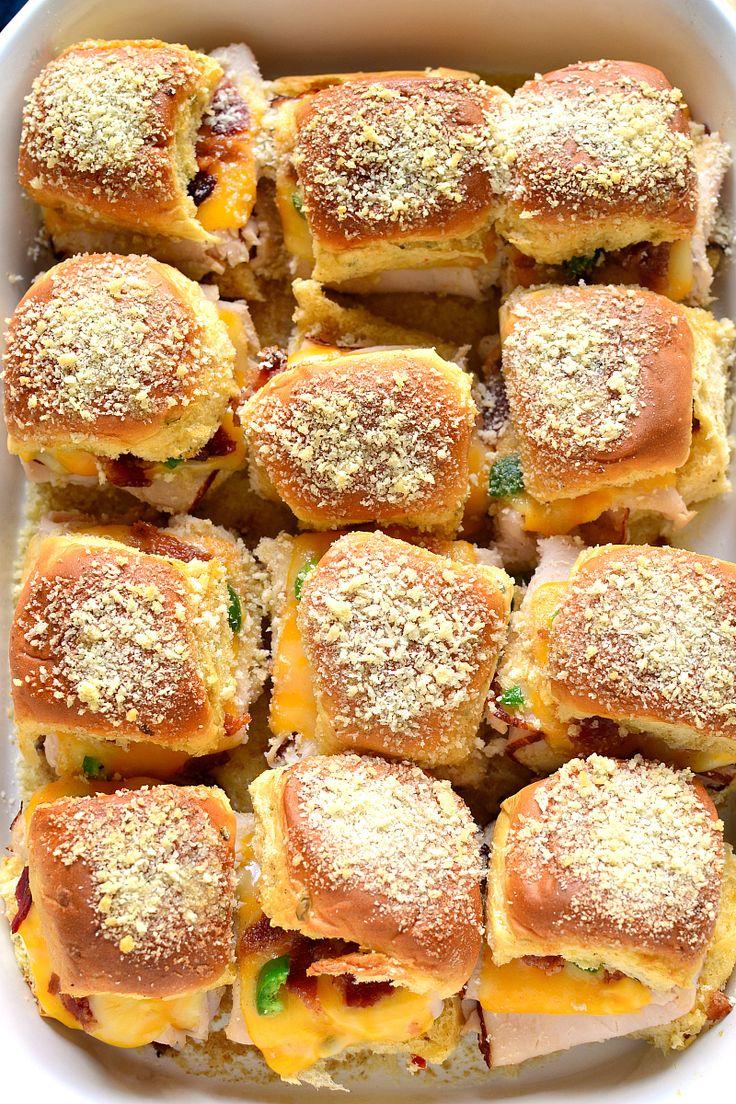 Jalapeno Popper Baked Turkey Sandwiches | Lemon Tree Dwelling