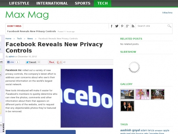 facebook revealed new privacy controls