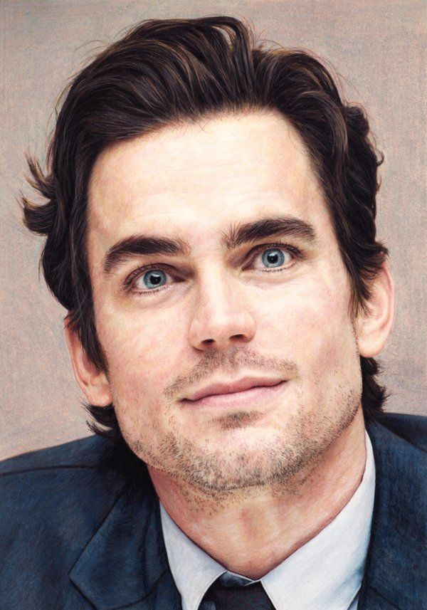 watercolor pencils (dry),pastels,coloured pencils matt bomer by natira.deviantart.com on @deviantART