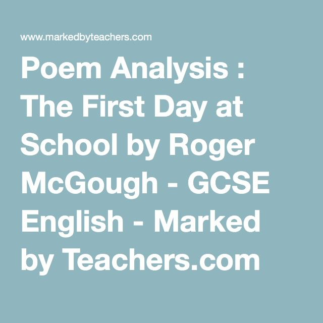 poetry of mcgough essay Publish your bachelor's or master's thesis, dissertation, term paper or essay   read five poems about liverpool by adrian henri and roger mcgough.