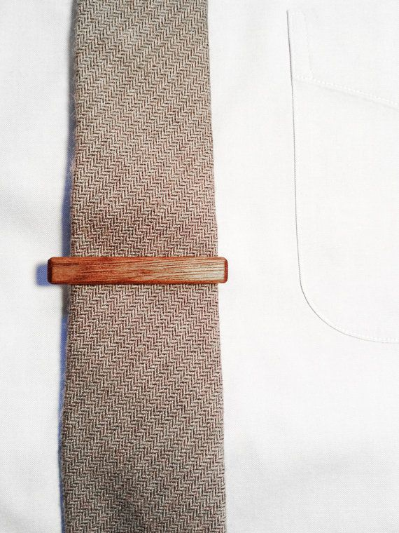 Black Walnut Wood Tie Clip / Tie Bar by WoodandMatter on Etsy, $30.00: