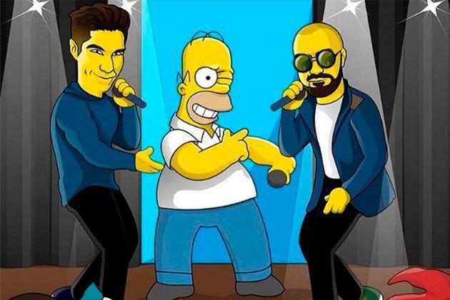 Chino y Nacho aparecen cantando junto a Homero Simpson