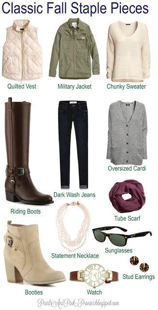 Classic Fall Fashion Staple Pieces-