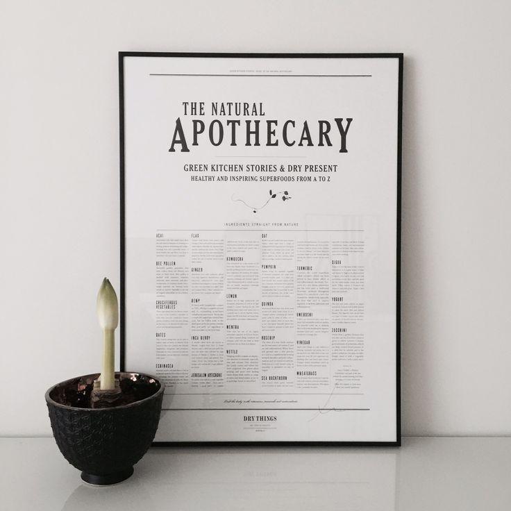 """Erkunde mit Hilfe des nostalgisch anmutenden Prints """"Eat your greens"""" die natürliche Apotheke. Ein Highlight aus der Print Kollektion """"Apothecary"""" von DRY Things."""