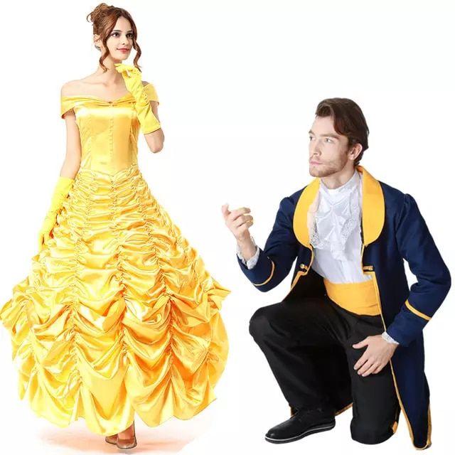 Beauty and the Beast Princess Belle Halloween Cosplay Costume Women Dress US