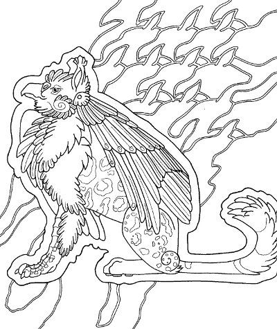 gryphon coloring page for adults