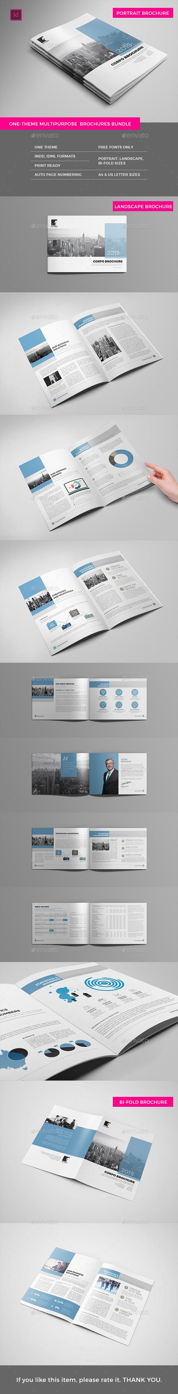 Print Pack - Brochures & Annual Reports Template InDesign INDD. Download here: http://graphicriver.net/item/print-pack-brochures-annual-reports/14790613?ref=ksioks