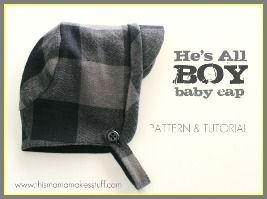 Free pattern: He's All Boy baby cap · Sewing | CraftGossip.com