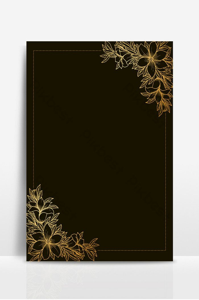 Black Background Lace Border Design Pikbest Backgrounds
