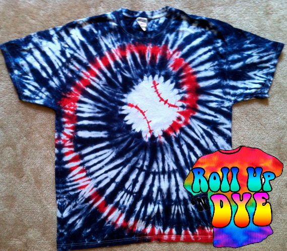 Baseball Tie Dye in Red White and Blue by ROLLUPNDYE on Etsy, $35.00: Baseball Sisterrrr ️, Tie Dye, Shirts, Baseball Life, Baseb Ties, Dyes Custom, Ties Dyes, Ties Dyed, Baseball Ties