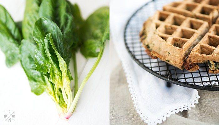 Herzhafte Waffeln mit Spinat und Käse (Thermomix Rezept)