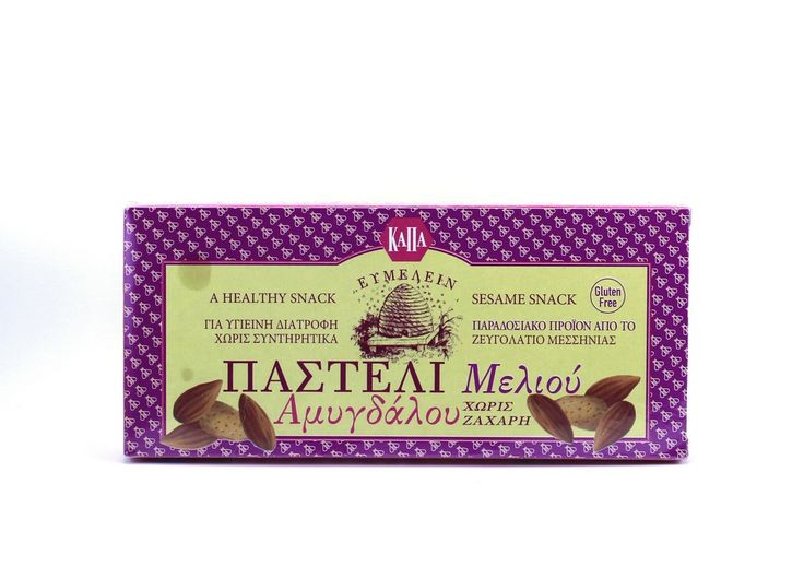 ''KAPA EVMELIN ''Pasteli with Honey and Almonds ( no sugar added)