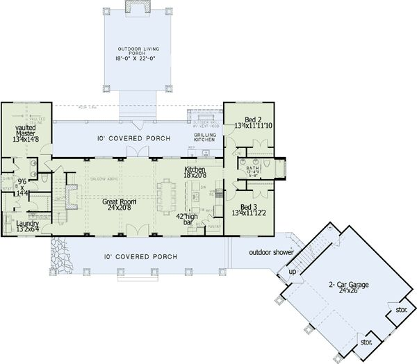 Plan W60597ND: Shingle Style, Northwest, Corner Lot House Plans & Home Designs