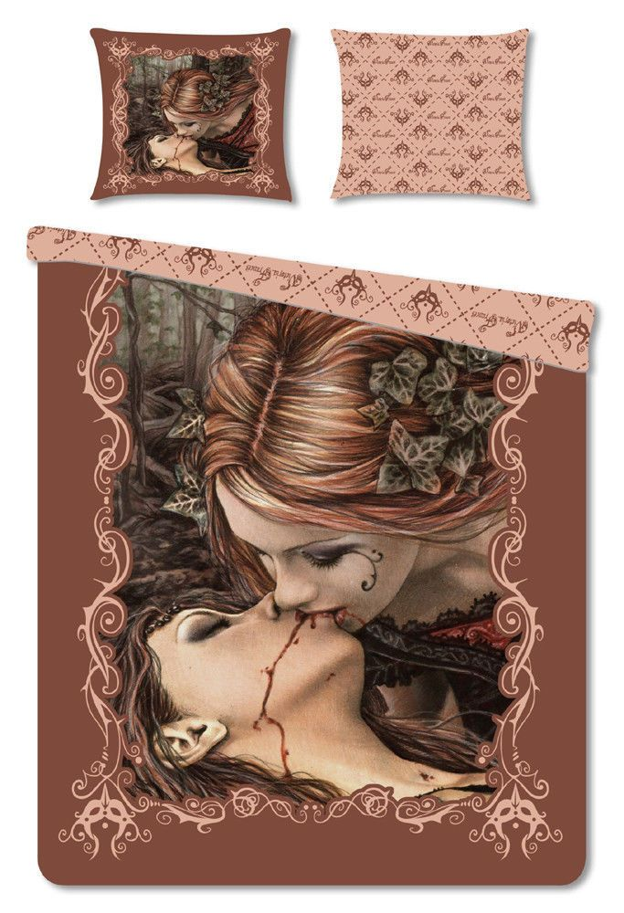 Victoria Francés Bettwäsche Kiss Brown 135 x 200 cm / 80 x 80 (Kissen, Decke)
