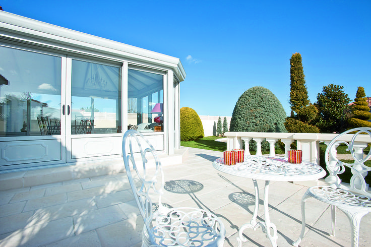 #veranda #conceptalu gamme #ARMONIA - #jardin