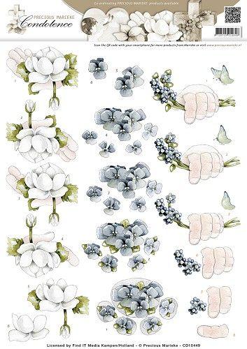 3D Knipvel - Precious Marieke - Condoleance - Deepest Sympathy Color