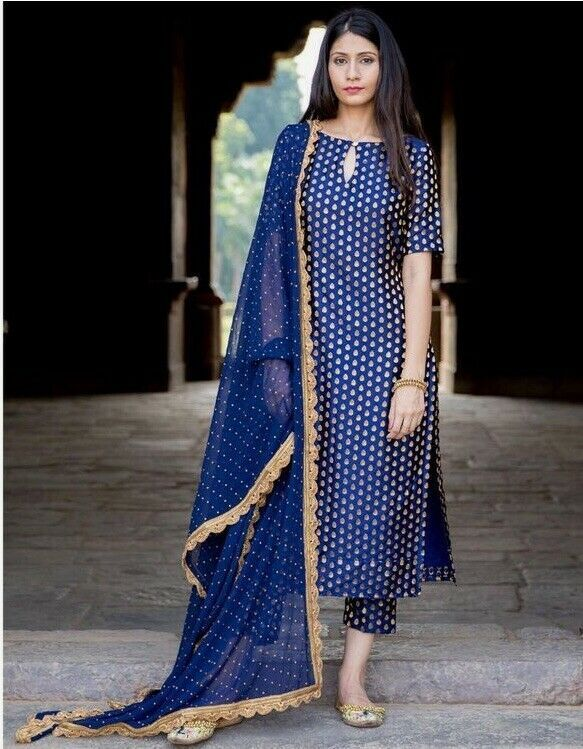 Gerogette With Plazzo Indian Bollywood Salwar Kameez straight Salwar Suit Plazo