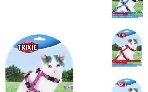 Nylonový postroj- kšíry pro koťata - motiv 21-34cm/8mm Trixie | Kočkárium