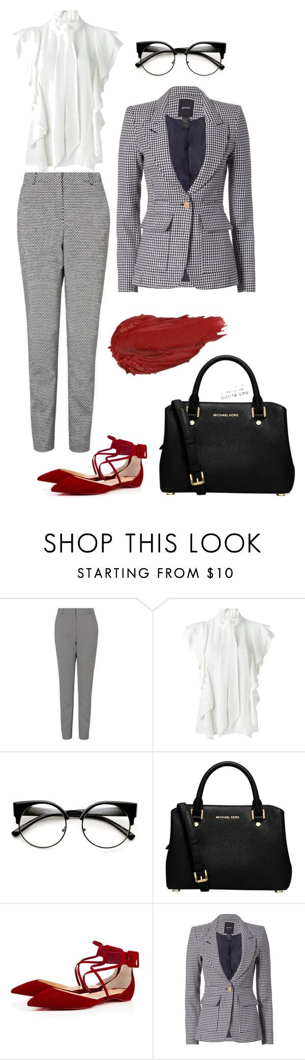 """Look 1 - WILSONS"" by kirravanblanken on Polyvore featuring L.K.Bennett, Lanvin, Urban Decay, MICHAEL Michael Kors and Smythe"