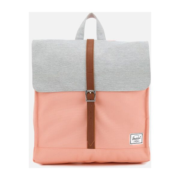 Herschel Supply Co. Women's City Mid-Volume Backpack - Peach/Light... ($78) ❤ liked on Polyvore featuring bags, backpacks, backpack bags, tan backpack, vegan bags, tan bag and day pack backpack