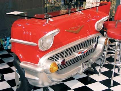 Vintage Car Reception Desk Porkies Palace Pinterest