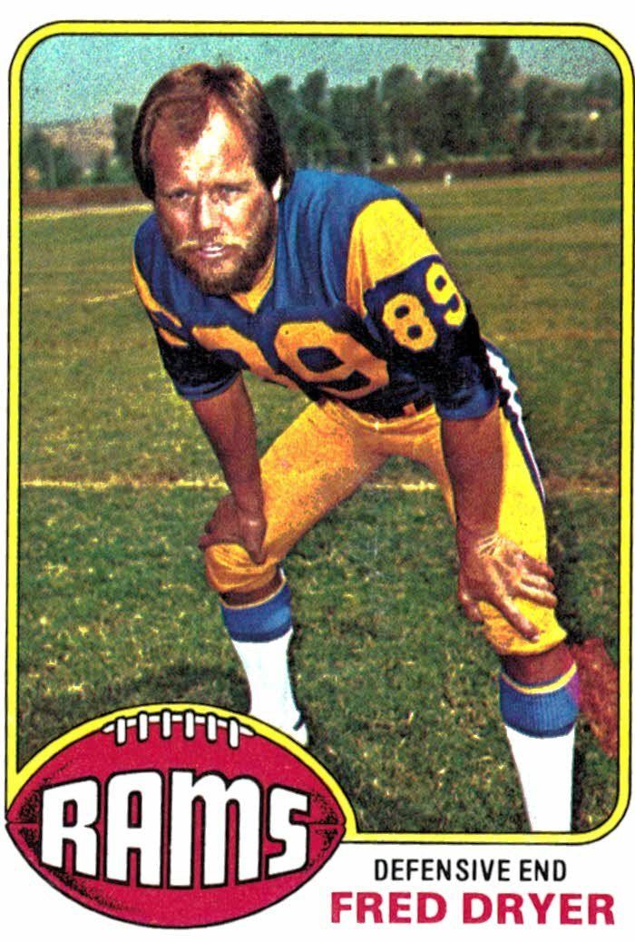 1976 Topps Fred Dryer Los Angeles Rams
