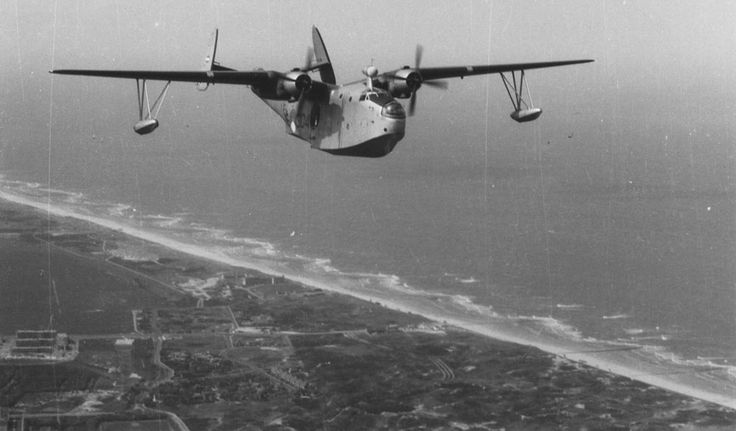 Martin Mariner, Royal Netherlands Navy/Koninklijke Marine over the Dutch coast. These aircraft were acquired to patrol the Dutch East Indies, but were withdrawn after some serious accidents.
