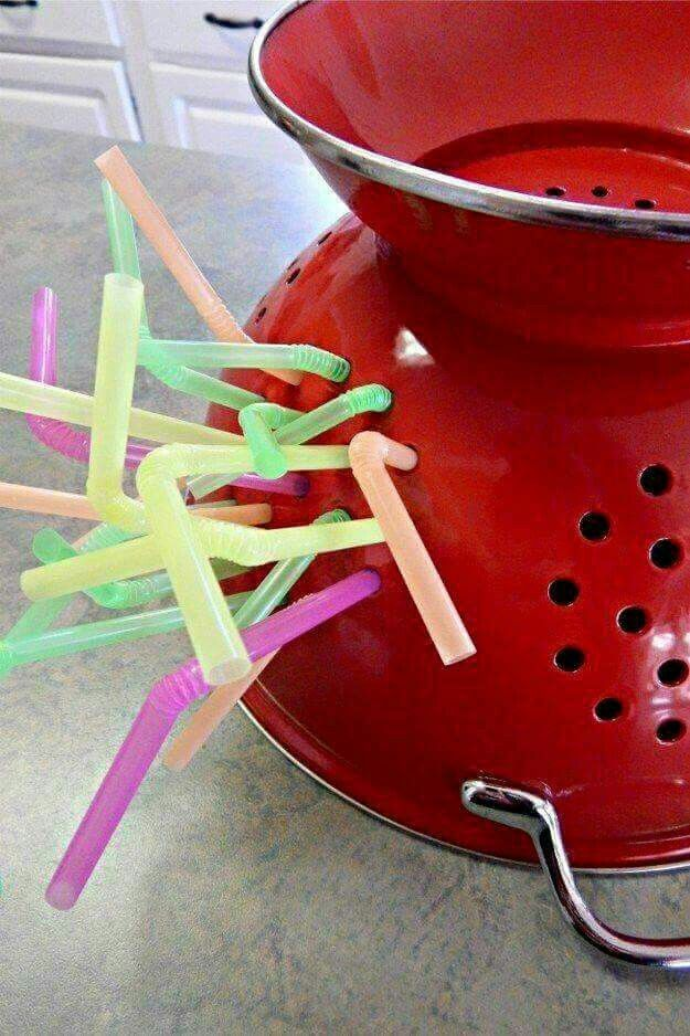 Straw collander
