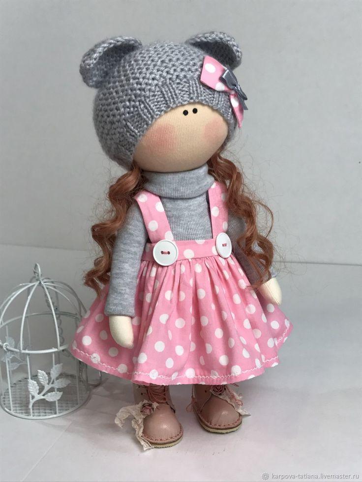 Купить или заказать Текстильная кукла в интернет магазине на Ярмарке Мастеров. С доставкой по России и СНГ. Материалы: хлопковая ткань, хлопковый трикотаж,…. Размер: 30 см