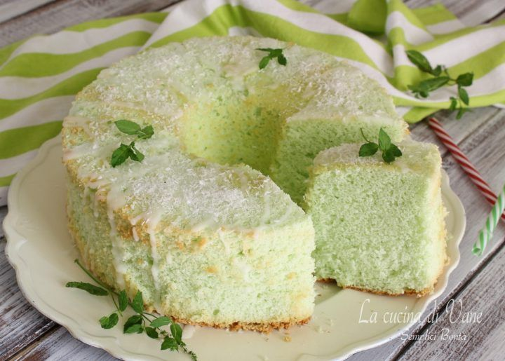 chiffon cake cocco e menta golosissima dal sapore fresco esotico