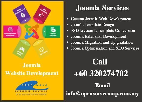 Joomla Web Design and Development - http://www.openwavecomp.com.my/joomla_website_development.html