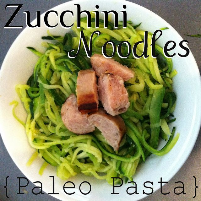 Zucchini Noodles: Cut your zucchini up into long noodle-like pieces. Saute in melted butter in pan over low heat. Toss noodles in and cook until tender. Salt and pepper to taste. Enjoy!