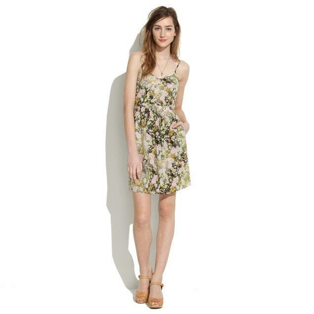 MADEWELL Yellow Silk Cami Dress Sungarden Floral Sz 4 | Clothing, Shoes & Accessories, Women's Clothing, Dresses | eBay!